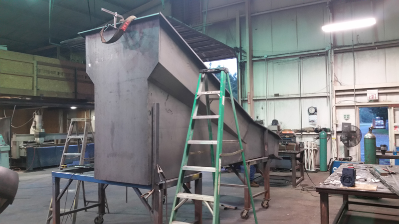 Potato Conveyor Flume Fabrication