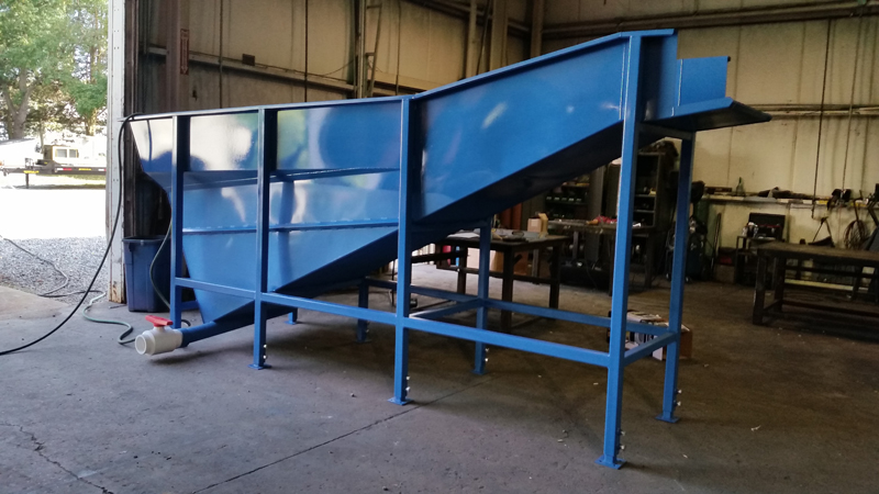 Vegetable Washing Conveyor Flume