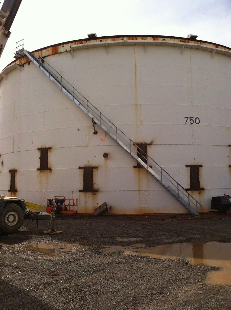 Fuel Storage Tank Spiral Staircase