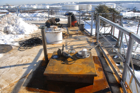 Fuel Storage Tank Manway Access