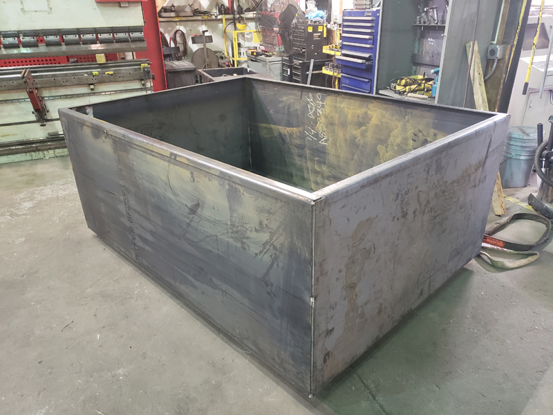 Metal Fabrication of Steel Fuel Containment Enclosure
