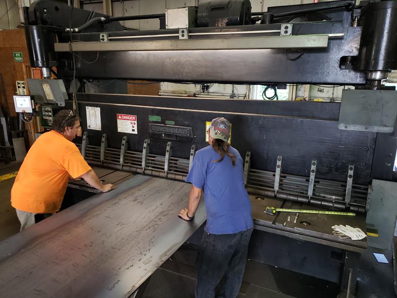 Shearing Steel Sheet