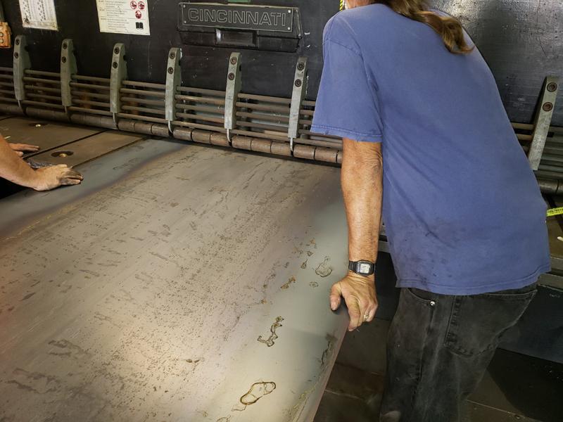 Shearing Thin Steel Sheet
